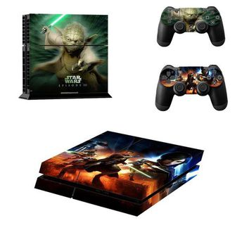 DCCKJN2 PS4 Star Wars EPISODE III Skin Sticer  For PlayStation 4 Console and 2 Controller skin