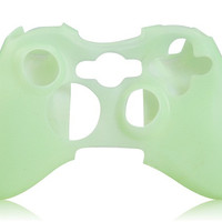Glow-in-the-Dark Silicone Case for XBOX 360 Controller (Green)