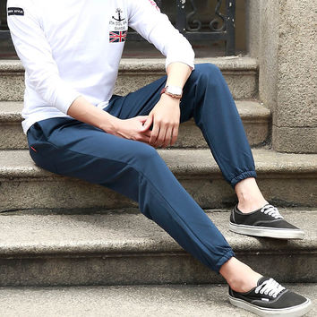 Korean Casual Men's Fashion Strong Character Pants [6544030211]