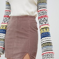 Free People Modern Femme denim mini skirt at asos.com