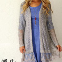 So This is Love Cardigan in Grey