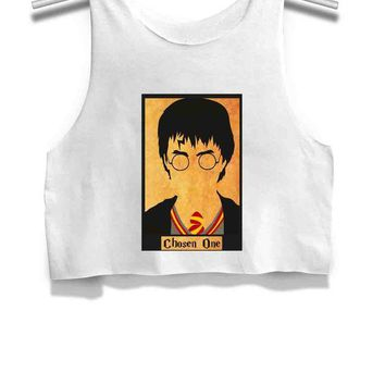 ICIKL83 Harry Potter the Chosen One Womens Crop Tank Top