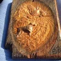 Labador Dog Carving in Wood Forest Scene Carved In Barnwood Hunting Fishing Nature Outdoors Sportsman lcww