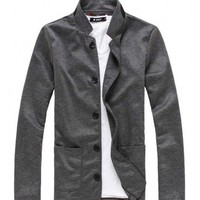 The Miller Cardigan Charcoal - leatherandcotton