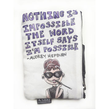 Audrey Quote Coin Purse