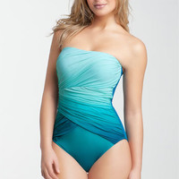 Gottex 'Ombré Goddess' One Piece Bandeau Swimsuit | Nordstrom