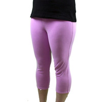 Hue Women's Chinos Capri Leggings Small Neon Magenta