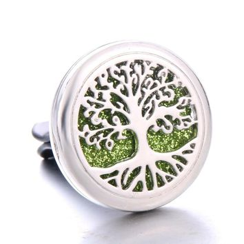 Tree of Life Detachable Stainless Steel Car Diffuser Freshener Perfume Essential Oil Diffuser Aromatherapy Car clip Locket