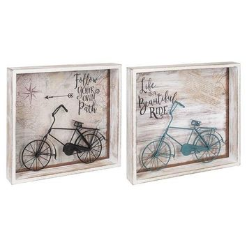 Bicycle Shadow Box Art