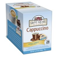Grove Square Cappuccino, French Vanilla, 24-Count Single Serve Cup for Keurig K-Cup Brewers:Amazon:Grocery & Gourmet Food