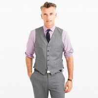 J.Crew Mens Ludlow Suit Vest In Heathered Italian Wool Flannel