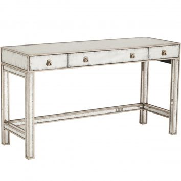 Eglomise Mirrored Vanity Table - Accent Tables - Furniture