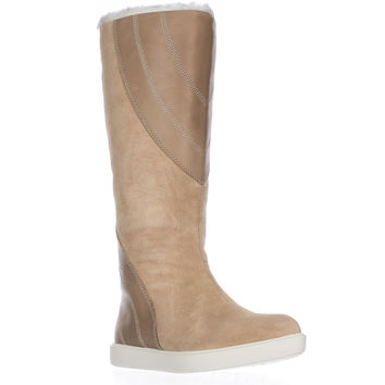 Naya Yuma Faux Fur Lining Tall Winter Boots, Straw, 6 US / 36 EU