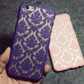 Vintage Lace Floral iPhone 7 se 6 6S Plus Case + Gift Box