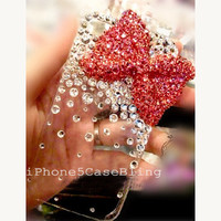 iPhone 4 Case, iPhone 4s case, iPhone 5 Case, Bling iPhone 4 case, Bow iphone 4 case, iphone 5 bling case, Cute iPhone 4 case, iphone5 case