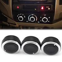 Car AC knob-Air Conditioning-Heat control Switch knob Aluminum alloy accessories For Toyota VIOS(2002-2006) Vela Vitz
