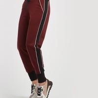 Michi Interstellar Sweatpant - Wine/Black/White
