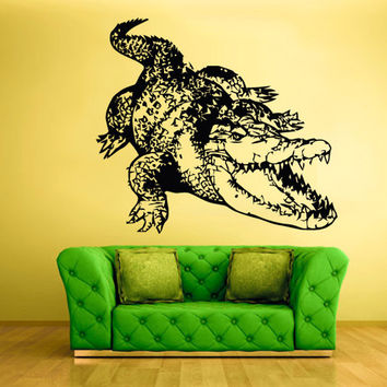 rvz1530 Wall Vinyl Sticker Decals Decor Alligator Crocodile Croc Thailand Skin