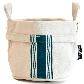Canvas Bucket - Blue Stripe