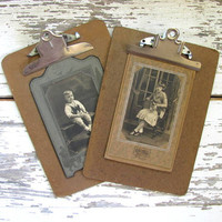 2 clipboards // picture clip board wall hangings
