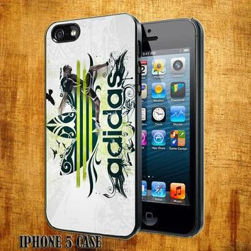Adidas Green Logo Design On Hard Plastic Cover Case, IPhone 4,4S or IPhone 5 Case, Sam