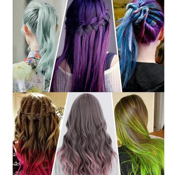 Joyous Hair Dye Color DIY Not Hurt Hair Easy To Clean Non-toxic One-time Temporary Mascara Hair Cream 13 Colors