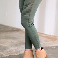 Moto Jeggings - Multiple Colors!