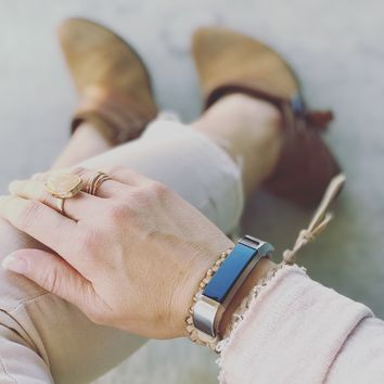 The Kristi II Lux-Suede Braided Fitbit Alta Wrap Band