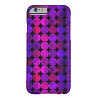 Funky Pink and Purple Circles Pattern Barely There iPhone 6 Case