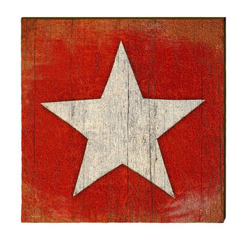 Star on Red Primitive