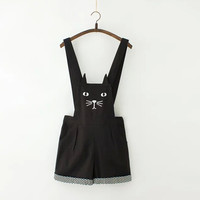 Cute cat wave point straps shorts from Women Fashion {Europe America}