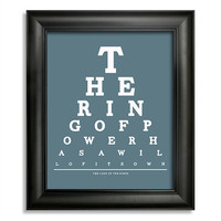 The Lord Of The Rings, The Ring Of Power Has A Will Of Its Own Eye Chart, 8 x 10 Giclee Print BUY 2 GET 1 FREE