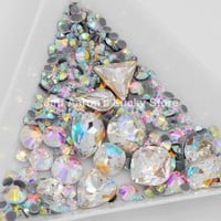 Mixed stlye 3d nail art decorations rhinestone glitter nails jewelry accessoires crystal beauty manicure tool