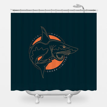 Shark Out of Water Shower Curtain