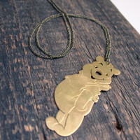 Winnie the Pooh Jewelry, Winnie the Pooh Necklace, Disney jewelry, Pooh Bear Charm, Disney necklace, FREE SHIPPING