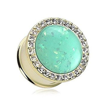Golden Mint Opal Elegance Multi-Gem WildKlass Plug (Sold as Pairs)