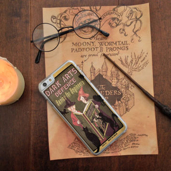 Harry Potter Inspired Dark Arts Defense Basics and other Text Book, Custom Phone Case for iPhone 4/4s, 5/5s, 6/6s, 6/6s+, and iPod Touch 5