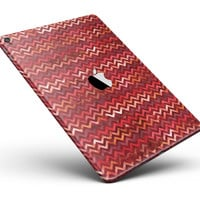 "Red Multi Watercolor Chevron Full Body Skin for the iPad Pro (12.9"" or 9.7"" available)"