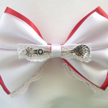 Mary Poppins Red and White Bow, Spoonful of Sugar Magic by Design Bowtique