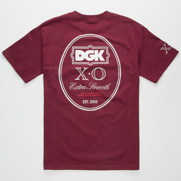 Dgk Xo Mens T-Shirt Burgundy  In Sizes