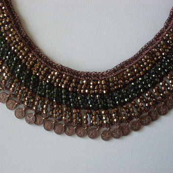 Emek Pinari - Necklace - Black and White- Authentic Necklace-Gift-
