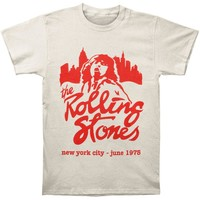 Rolling Stones Men's  Mick June 1975 NYC T-shirt Beige