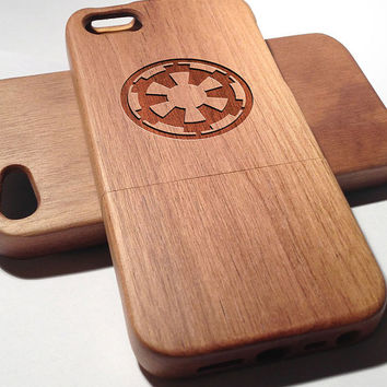 Star Wars Galactic Empire Wooden iPhone 4/4s iPhone 5/5s case walnut bamaboo wood iphone case