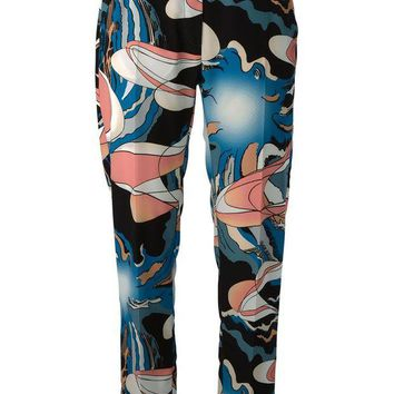 DCCKIN3 MM6 By Maison Martin Margiela abstract print trousers