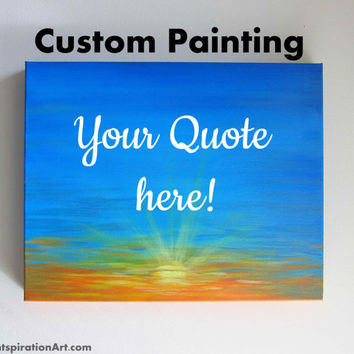 Custom Quote Art Personalized Canvas Paintings - Custom Paintings Quote Paintings - Personalized Gifts Lyrics on Canvas - Unique Gift Ideas