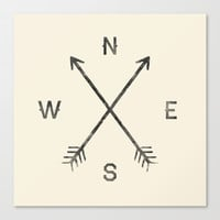 Compass (Natural) Stretched Canvas by Zach Terrell