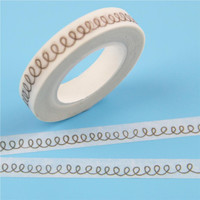 1 Pc / Pack Stationery Dividing Line Japanese Paper Washi Tape Tear Off Writeable Paper Tape Decorative Adhesive Tape Scrapbook