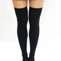 Black Thigh High Sock