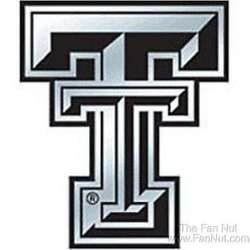 Texas Tech Red Raiders Silver Chrome Colored Auto Emblem Home Decal University