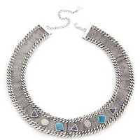 Fortune Favors the Brave Geo Stone Collar Necklace | SHOPBOP Save 20% with Code WEAREFAMILY13